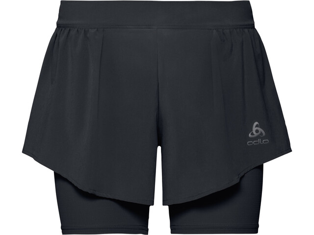 Odlo Zeroweight Ceramicool PRO Pantaloncini 2in1 Donna, black
